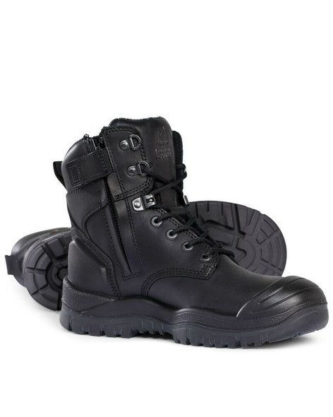 Mongrel R Series 561020 Black High Ankle ZipSider Boot