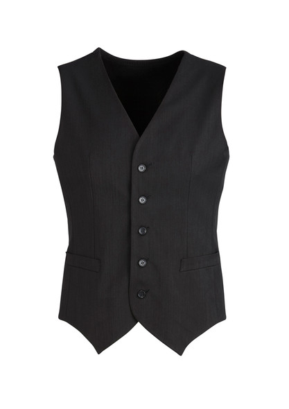 Mens Peaked Vest with Knitted Back 90111