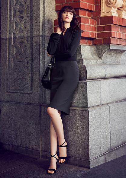Womens Bandless Pencil Skirt 20717
