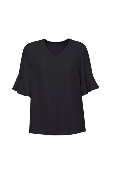 Womens Aria Fluted Sleeve Blouse RB966LS
