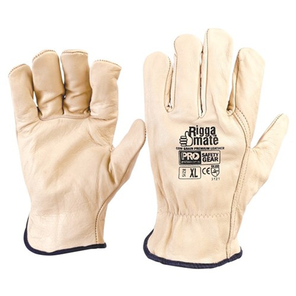 ProChoice® Riggamate Beige Premium Cowgrain Gloves CGL41B pk12