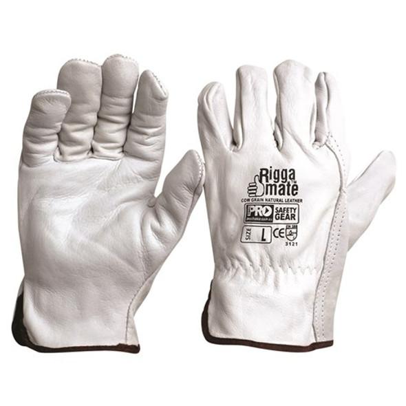 ProChoice® Riggamate Natural Cowgrain Gloves CGL41N pk12
