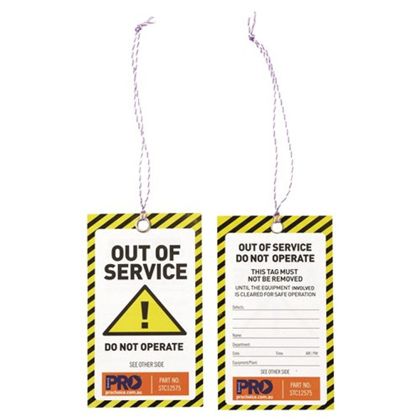 ProChoice® Safety Tag -125mm x 75mm Caution STC12575