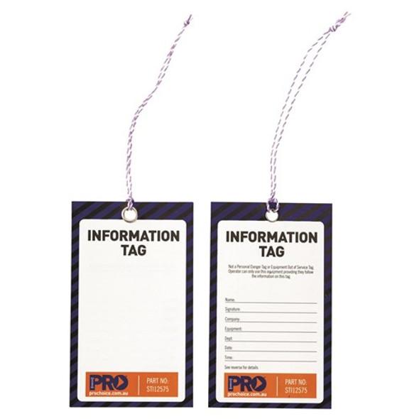 ProChoice® Safety Tag -125mm X 75mm Information (Blank) STI12575