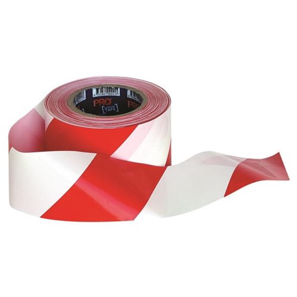 ProChoice® Barricade Tape - 100m x 75mm Red & White RW10075
