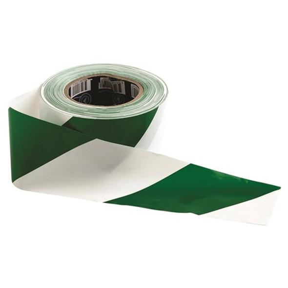 ProChoice® Barricade Tape - 100m x 75mm Green & White GW10075
