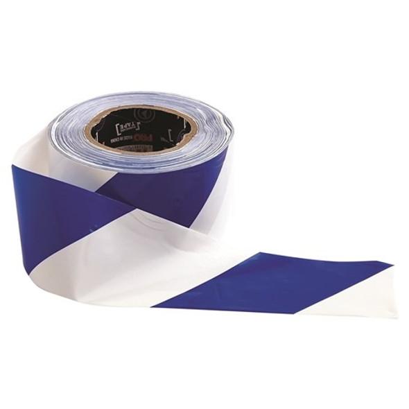 ProChoice® Barricade Tape - 100m x 75mm Blue & White BW10075