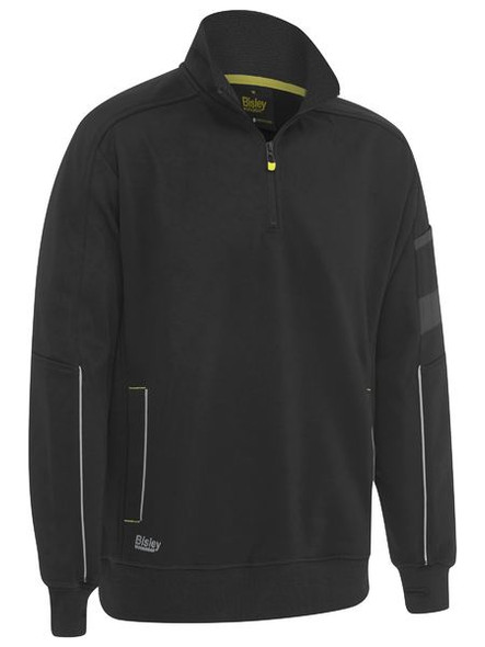 1/4 ZIP WORK FLEECE PULLOVER BK6924