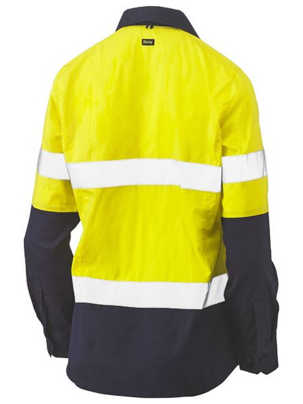 WOMENS TAPED HI VIS STRETCH V-NECK SHIRT