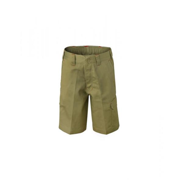 Kids Midweight Cargo Cotton Drill Shorts WPK502