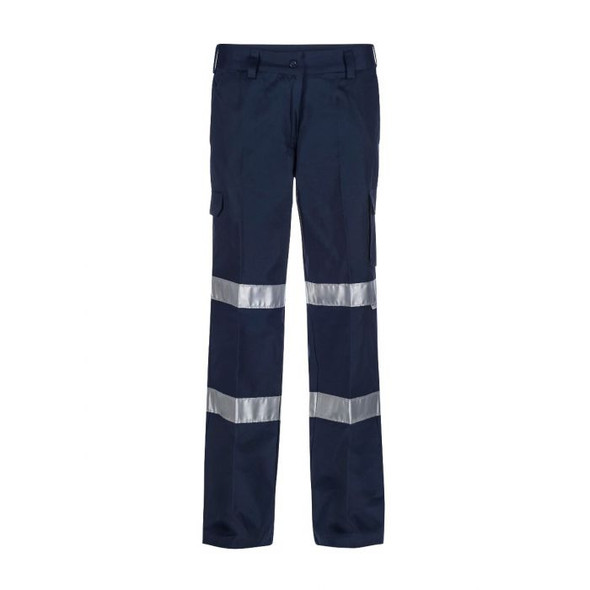 Ladies Mid Weight Cargo Cotton Drill Trouser With Csr Reflective Tape WPL075
