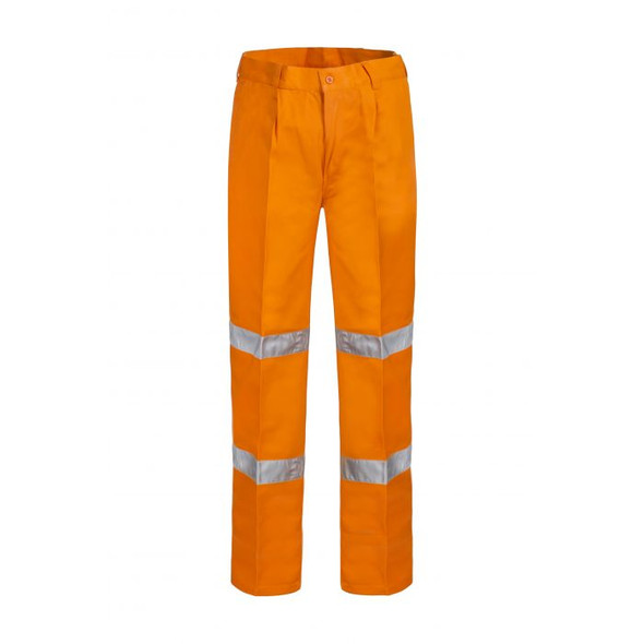 Classic Single Pleat Cotton Drill Trouser With Csr Reflective Tape-WP4006