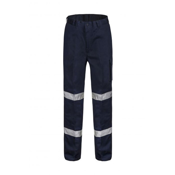 Classic Pleat Cotton Drill Trouser with Industrial Laundry Reflective Tape-WP3045