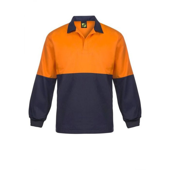 Food Industry Hi Vis Two Tone Jac Shirt With Contrast Collar - long Sleeve WS3018