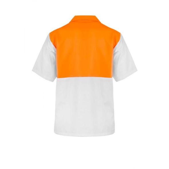 Food Industry Hi Vis Two Tone Jac Shirt - Short Sleeve WS3008