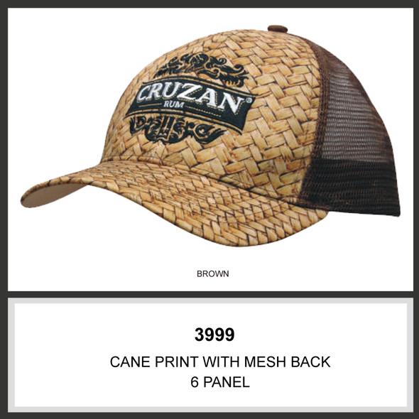 Cane Print with Mesh Back HW 3999