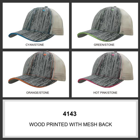 Wood Printed With Mesh Back HW 4143