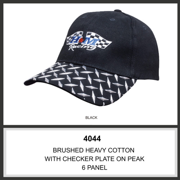 Brushed Heavy Cotton with Checker Plate on Peak HW 4044