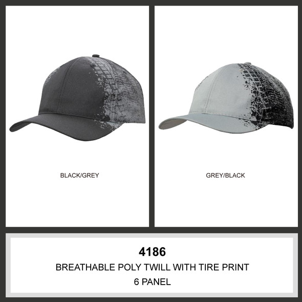 Breathable Poly Twill with Tire print HW 4186