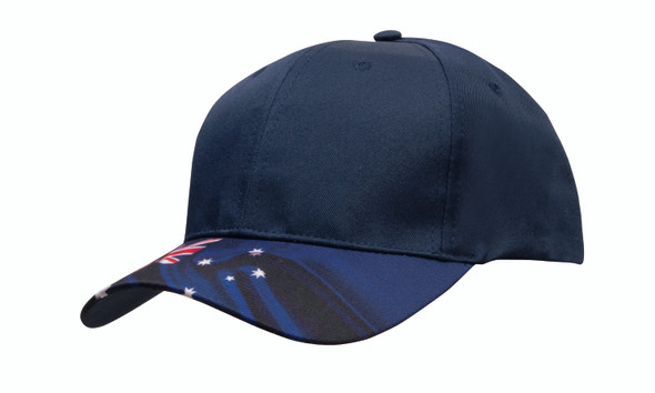 Breathable Poly Twill Waving Flag Cap HW 4190