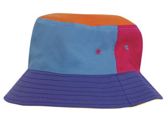 Breathable Poly Twill Childs Bucket Hat HW 3941