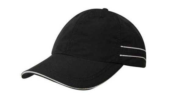 Microfibre Sports Cap with Piping and Sandwich HW 4077