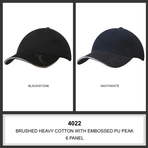 Brushed Heavy Cotton with Embossed Pu Peak HW 4022