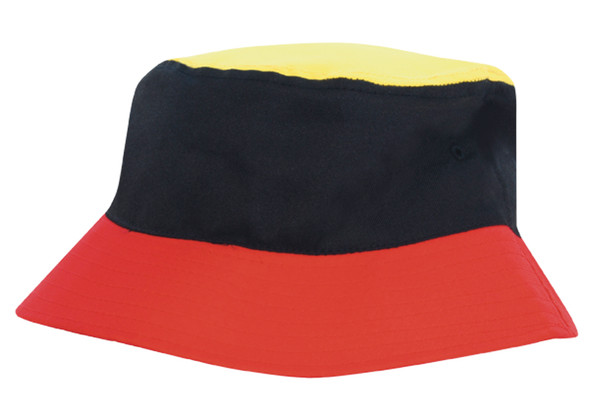 Breathable Poly Twill Multicoloured Bucket Hat HW 4220