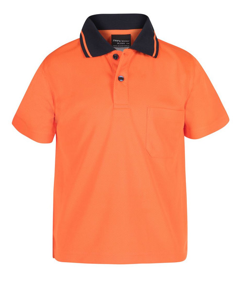 KIDS & Infants HI VIS NON CUFF TRADITIONAL POLO 6HVNC -Kids