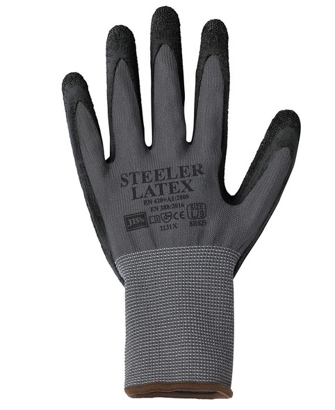 JBS STEELER LATEX CRINKLE GLOVE (12 PACK) 8R029