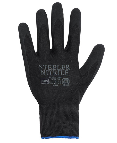 JBS STEELER SANDY NITRILE GLOVE (12 PACK) 8R030