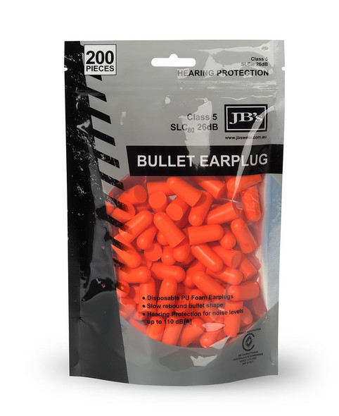 JBS BULLET SHAPED EARPLUG (200 PIECES) 8P045