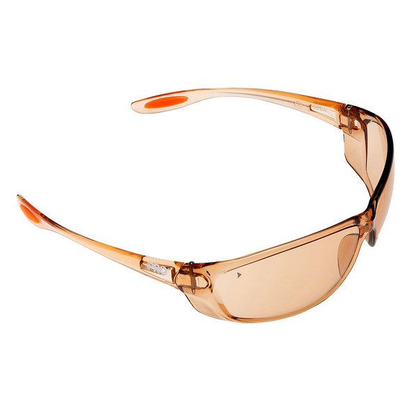 SWITCH LIGHT BROWN SAFETY GLASSES PK 12 : 6109