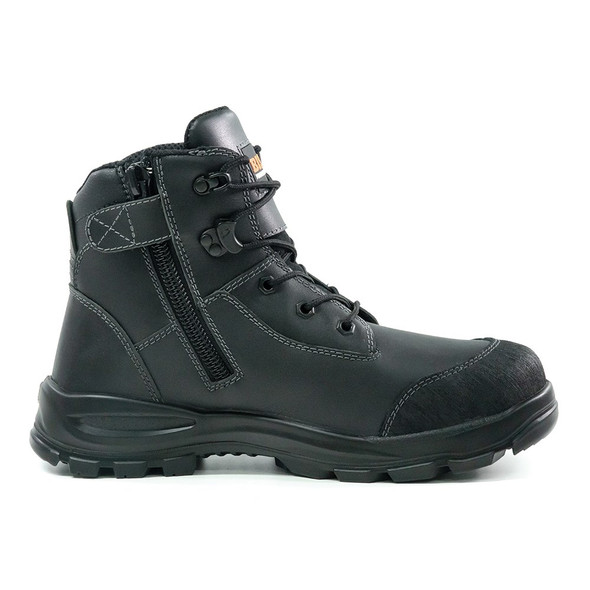 BISON TOR LACE UP SAFETY BOOT WITH ZIP BLACK TORBK