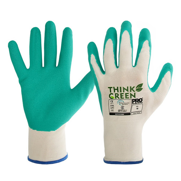 THINK GREEN LATEX GRIP RECYCLED GLOVE PK 12 : TGGL