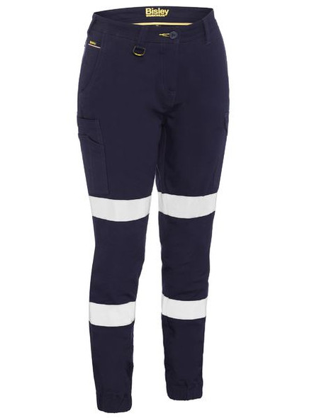 WOMEN'S TAPED COTTON CARGO CUFFED PANTS BPL6028T