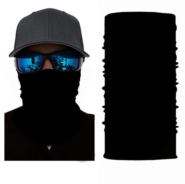 Simba Bandana Face Mask Neck Gaiter Plain Black S58
