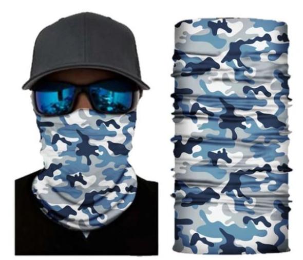 Simba Bandana face mask Neck Gaiter Camo Blue SIM22