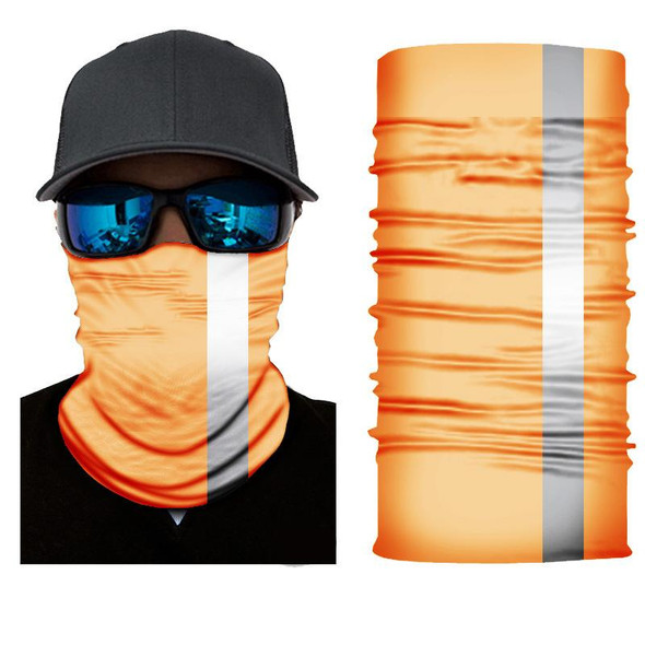 Simba Bandana face mask  Neck Gaiter Orange 1 white striped SIM60