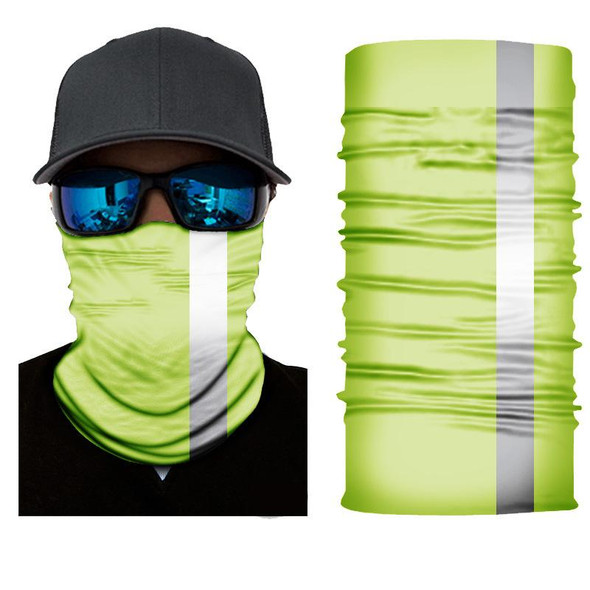 Simba Bandana face mask Neck Gaiter  L/Green Yellow 1 white striped SIM61