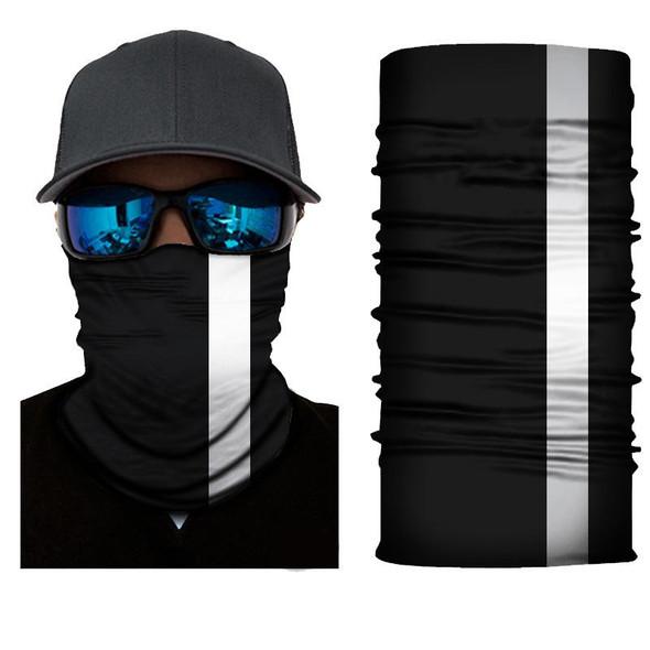 Simba Bandana face mask  Neck Gaiter Black Reflective stripe R04