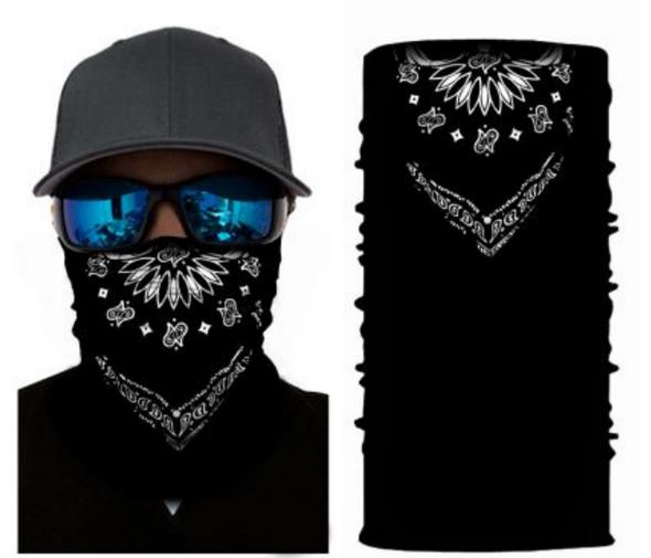 Simba Bandana face mask Neck Gaiter Iconic black S39