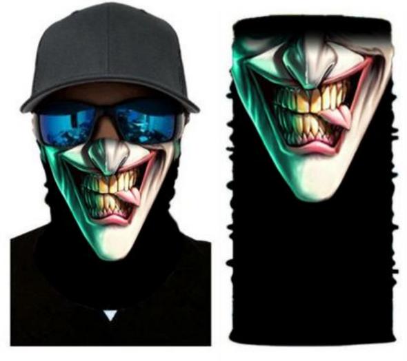 Simba Bandana face mask Neck Gaiter Naughty Clown S48