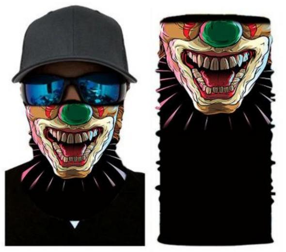 Simba Bandana face mask Neck Gaiter Laughing Clown S63