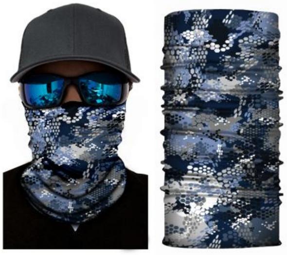 Simba Bandana face mask Neck Gaiter Blue Scales S71