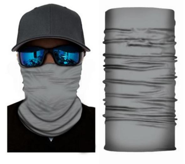 Simba Bandana face mask Neck Gaiter Plain Grey S97