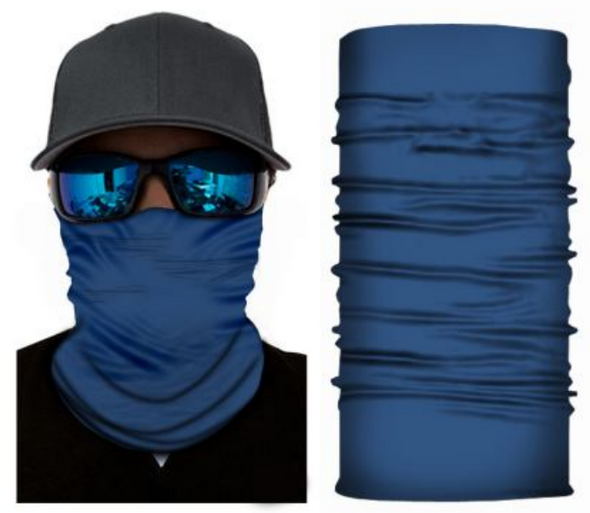 Simba Bandana face mask Neck Gaiter Plain Blue S98