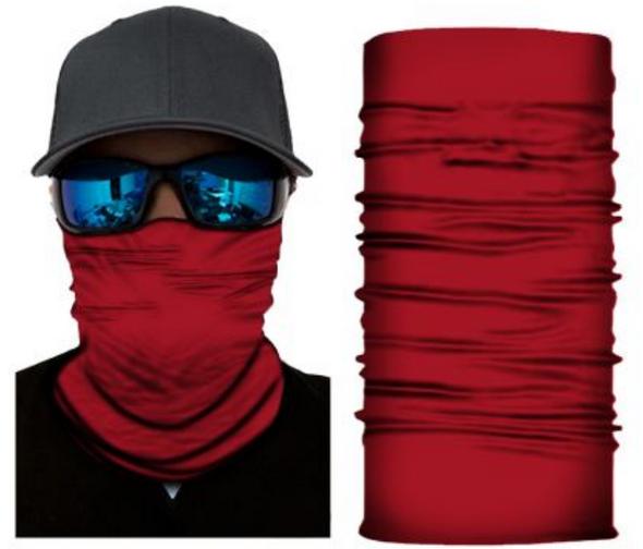 Simba Bandana face mask Neck Gaiter Plain Red S334