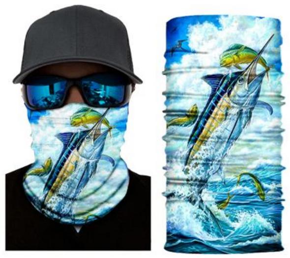 Simba Bandana face mask Neck Gaiter Fish 2 S406