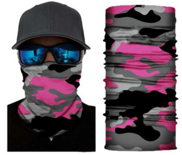 Simba Bandana face mask Neck Gaiter Camo Pink S174